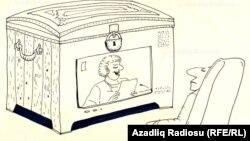 """""""TV"""". Şerif. Karikatura."""