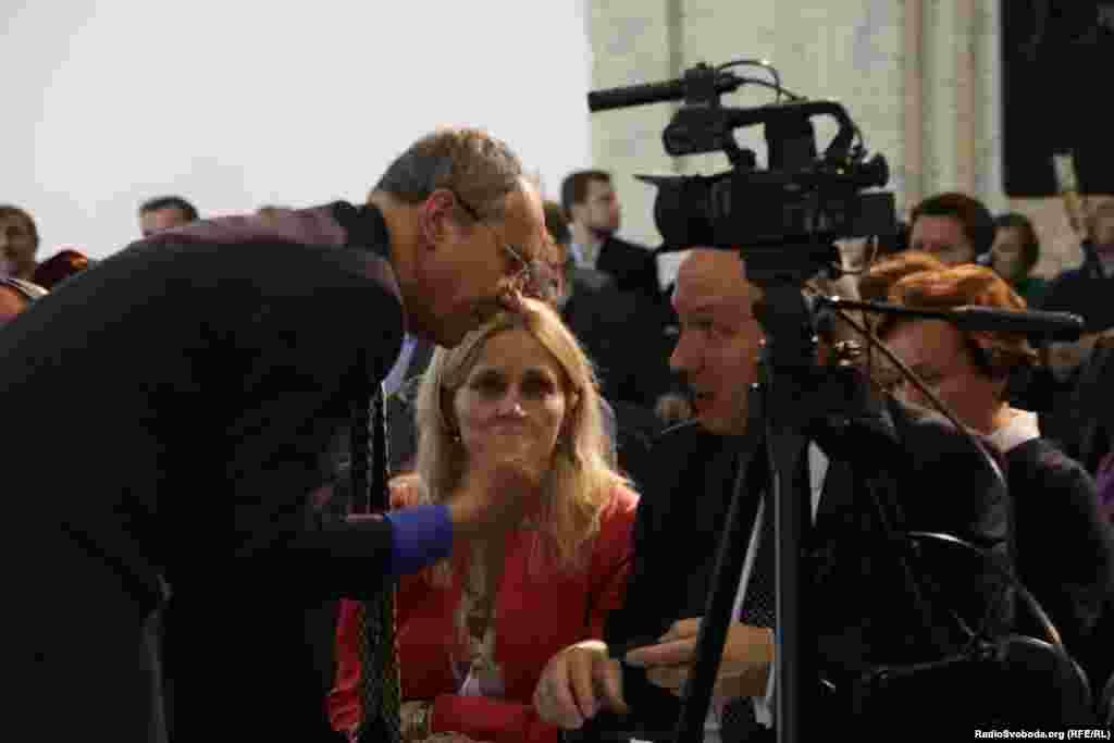 Головний редактор Радіо Вільна Європа/Радіо Свобода Ненад Пеїч (ліворуч) ідиректор Празького фонду «Свобода»Павел Фішер(праворуч)
