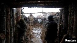 Позиции украинских войск в Лисичанске, Луганская область