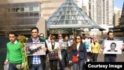 گردهمایی ایرانیان در تورنتو برای حمایت از زندانیان بند۳۵۰ اوین