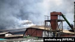 Пажар па выбуху на «Пінскдрэве»