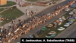 """Lanac solidarnosti"" u baltičkim zemljama, 23. avgust 1989."