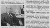"Fotografie a lui Fritz Cloos în ""Neue Kronstädter Zeitung"" 25.3. 2000."