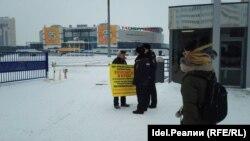 """Сегодня дольщикам ЖК """"Миллениум сити"""" также запретили пикетировать у """"Татнефть-арены"""""""