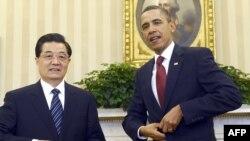 Presidenti kinez Hu Xhintao, dhe ai amerikan Barak Obama