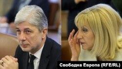 Министрите на екологията и водите Нено Димов и на регионалното развитие Петя Аврамова