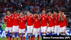 Сборная России на Чемпионате мира по футболу 2018 года (архивное фото)