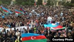 Предвыборный митинг в Баку, 5 октября 2013 г.