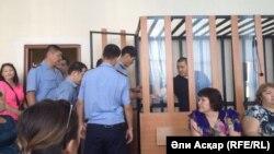 Суд над жителями города Шалкар в Актюбинской области, обвиняемыми в пропаганде терроризма.