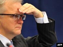 Ýewropa Bileleşiginiň ykdysady meseleler boýunça komissary Olli Rehn