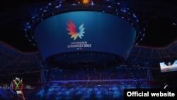 Церемония открытия XXVIII Всемирной Универсиады 2015 в Кванджу, Южная Корея.