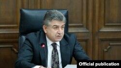 Премьер-министр Армении Карен Карапетян, Ереван, 30 октября 2017 г.