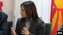 Macedonia -- U.S. Ambassador Paul Volers and Minister of Interior Gordana Jankulovska, where?, 12Dec2011