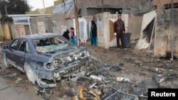 محل انفجار بمب در کرکوک در ۲۵۰ کیلومتری بغداد در روز چهارشنبه
