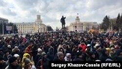 """Митинг в Кемерове после пожара в ТРЦ """"Зимняя вишня"""", архивное фото"""