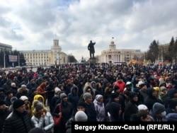 Кемерово, площадь Советов. Митинг 27 марта 2018 г.