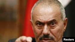 President Ali Abdullah Saleh was said to be lightly wounded in a rocket attack by opposition forces.