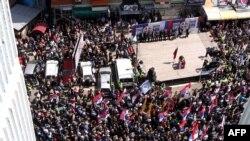 Mitrovica: Protest Srba sa severa Kosova protiv sporazuma, april 2013.