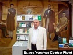 Миркасыйм Госманов Татар фәннәр академиясе бинасында, 2 июнь 2009