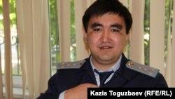 Прокурор Даурен Халыков, поддерживающий государственное обвинение по делу Гузяль Байдалиновой. Алматы, 13 мая 2016 года.