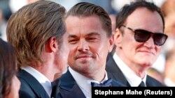 "Брэд Питт, Леонардо Ди Каприо и Квентин Тарантино на показе ""Однажды в Голливуде"""