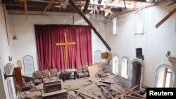 Homs şäheriniň ýumrulan kilisesi