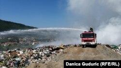 Požar na deponiji Prijepolje, Srbija