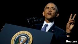 Президент США Барак Обама виступає з прощальною промовою, Чикаго, 10 січня 2017 року
