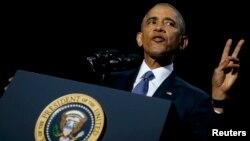 Обама президенттик кызматтагы коштошуу сөзүн сүйлөөдө
