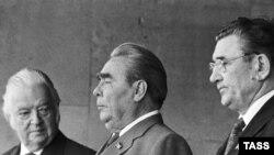 Президент МОК лорд Килланин (слева) и Леонид Брежнев на открытии Олимпиады-80.
