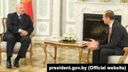 Аляксандар Лукашэнка і Міхаіл Джанэлідзэ