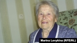 17 жасында Германияның еңбек лагеріне айдалған Екатерина Головко. Семей, 7 мамыр 2012 жыл.