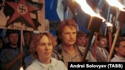 Під час акції в Естонії, приуроченій до 50-ї річниці підписання «пакту Молотова-Ріббентропа», 23 серпня 1989 року