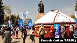 Празднование Дня единства народа Казахстана в Алматы. 1 мая 2014 года. Иллюстративное фото.