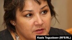 Дағдарыс орталықтары одағының президенті Зүлфия Байсақова. Алматы, 21 қазан 2011 жыл.