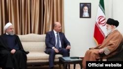Iran's supreme leader Ali Khamenei met Iraq's president Baham Salih, November 17, 2018.