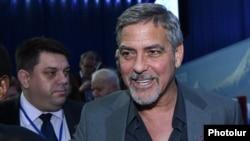 Джордж Клуни принимает участие во втором Глобальном форуме «Против преступления геноцида», Ереван, 23 апреля 2016 г․
