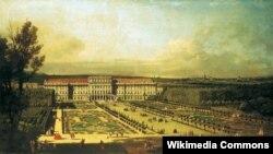 Бэрнарда Каналета, «Палац Шэнбрун у Вене» (1759).
