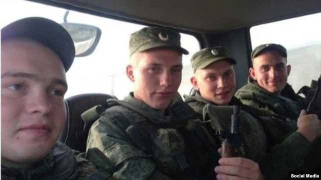 Photos such as this one purporting to be of Russian soldiers in Syria have been appearing on social media.