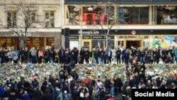 La demonstrația de la Stockholm în memoria victimelor atentatului
