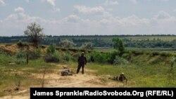 Позиції українських військових під Дзержинськом, 17 червня 2014 року