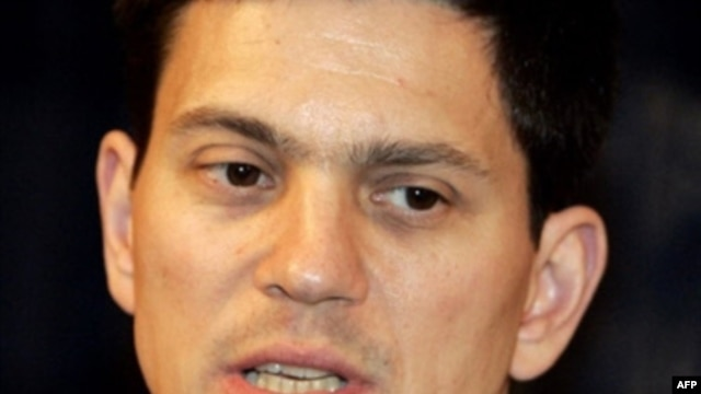 British Foreign Secretary David Miliband: 'Hard-headed engagement' is the answer