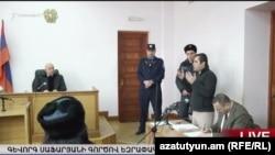 Геворк Сафарян во время заключительного заседания по делу, Ереван, 16 января 2016 г.