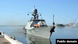 Rus gəmisi Bakıda