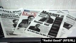 Tajikistan -- Tajikistan's newspapers on 07Feb2013