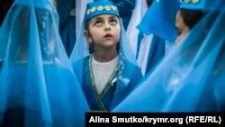 День крымскотатарского флага в Феодосии, 26 июня 2017 года. Иллюстрационное фото