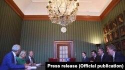 Kryetari i Kuvendit të Kosovës, Kadri Veseli, gjatë vizitës së tij në Holandë.