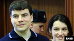 Nikita Tikhonov and fellow defendant, wife Yevgeniya Khasis