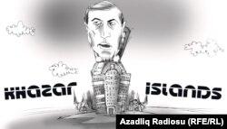 Azerbaijan -- cartoon, Khazar İsland