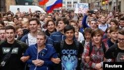 Митинг против пенсионной реформы в Москве. 9 сентября 2018 года